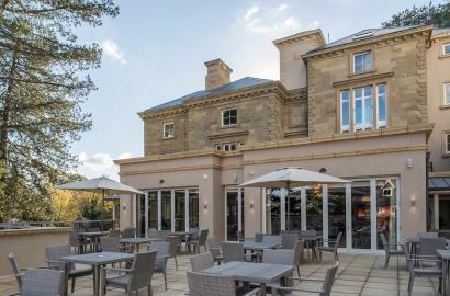 The terrace at Aldwyn's